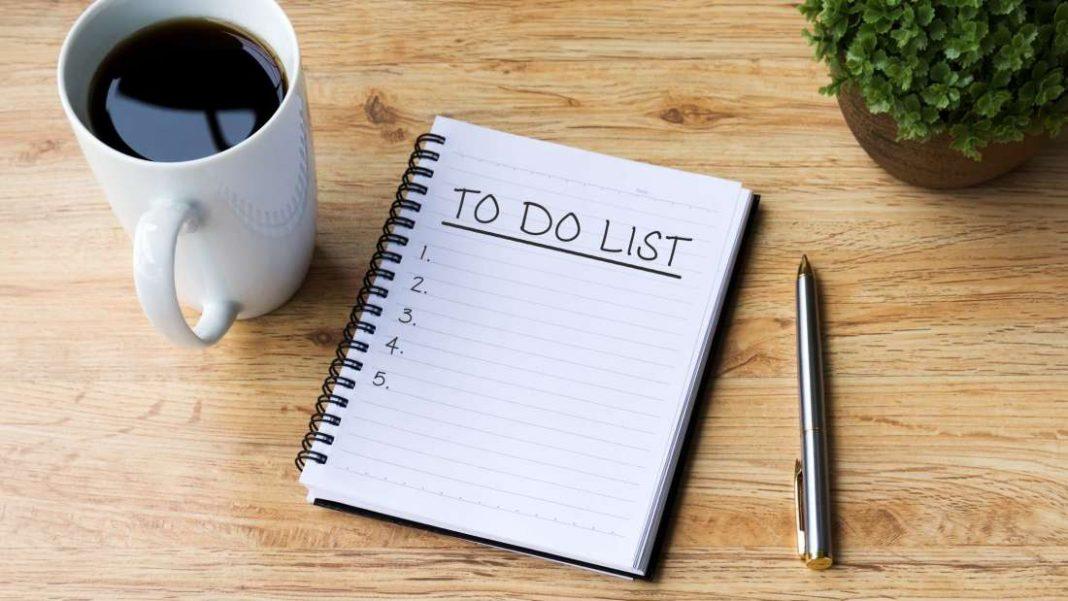 لیست انجام کارهای مورد نیاز را تهیه کنید